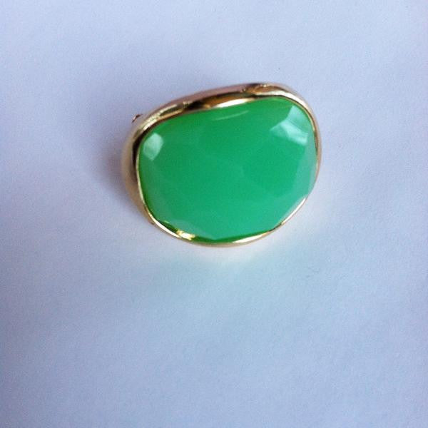 Faceted Oval Stretch Ring