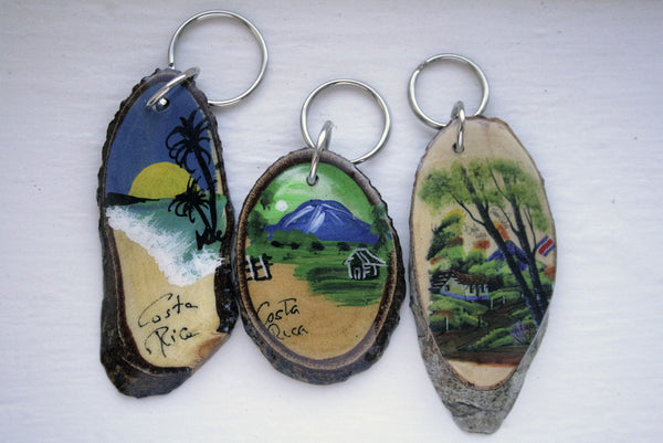 Costa Rica Wooden Key Chain