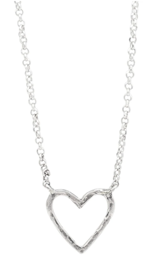 Ever Open Heart Necklace 16""