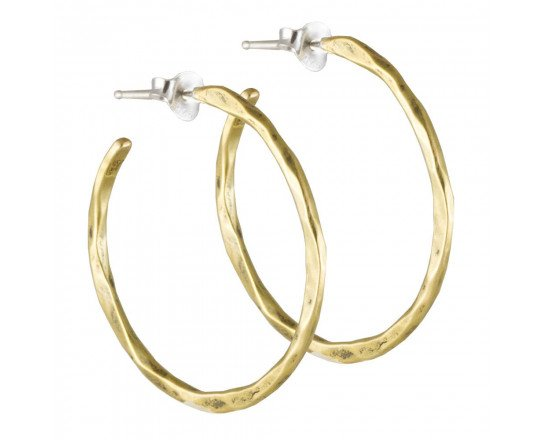 Free Form Earring, Brass and Sterling Silver, Medium