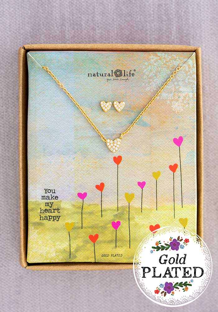 Necklace & Earring Set Heart