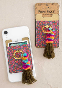 Floral Tassel Phone Pocket Ring 4.5 star rating 2 Reviews