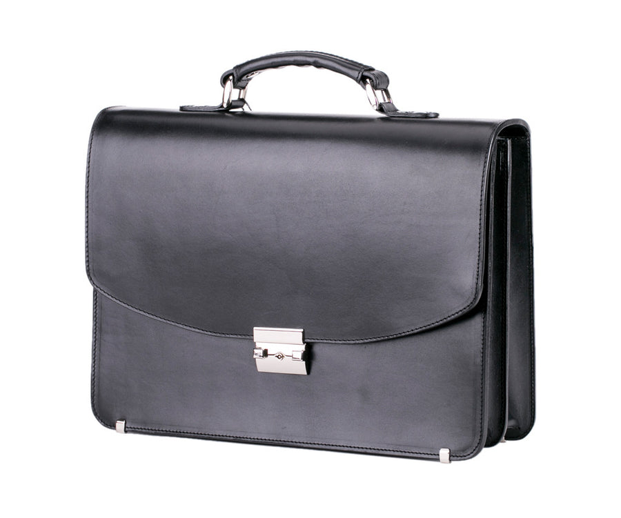 Central Trust Leather Briefcase
