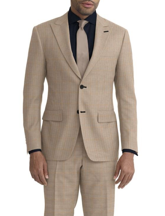 Beige Tan Windowpane