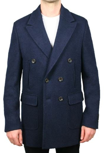 COOPER STRETCH BOILED WOOL PEACOAT