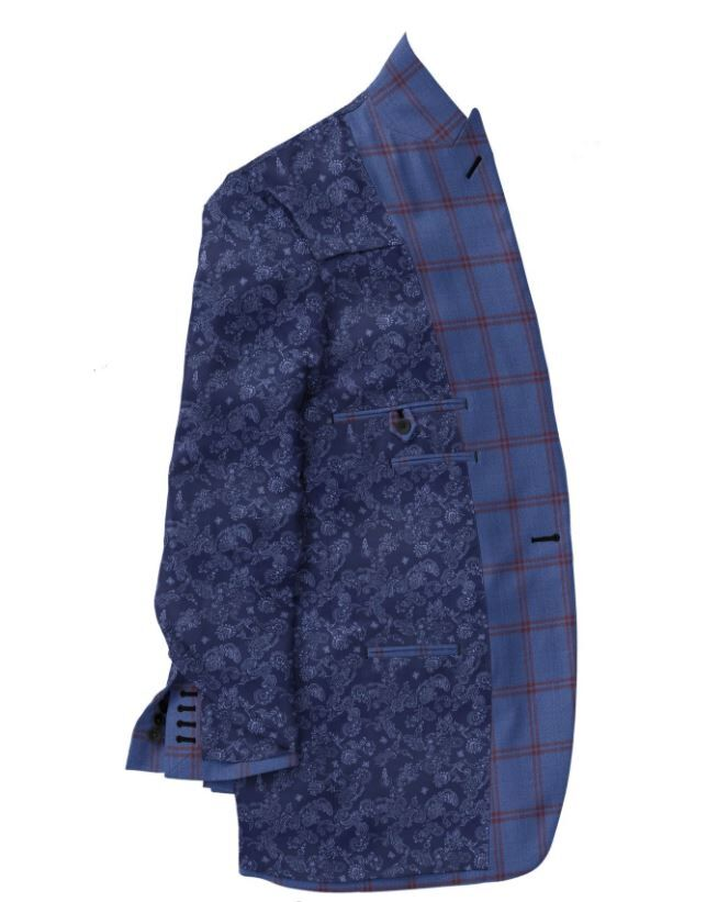 Blue Maroon Double Windowpane