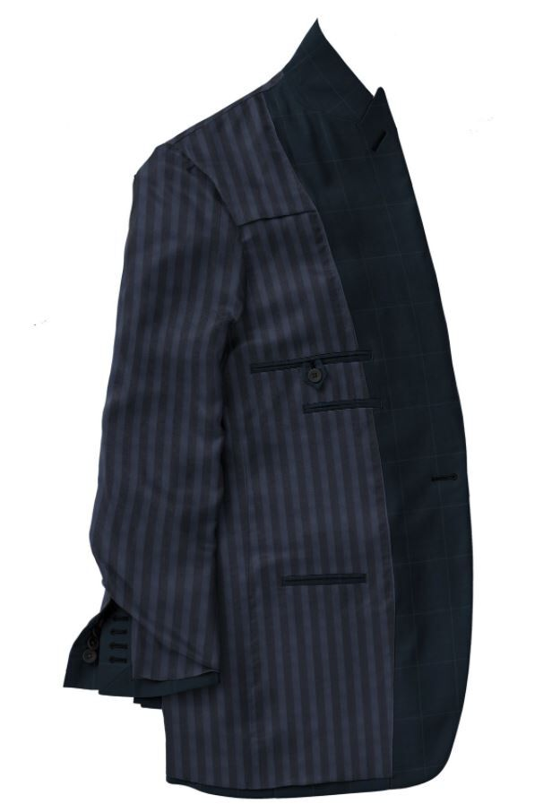 Navy Windowpane