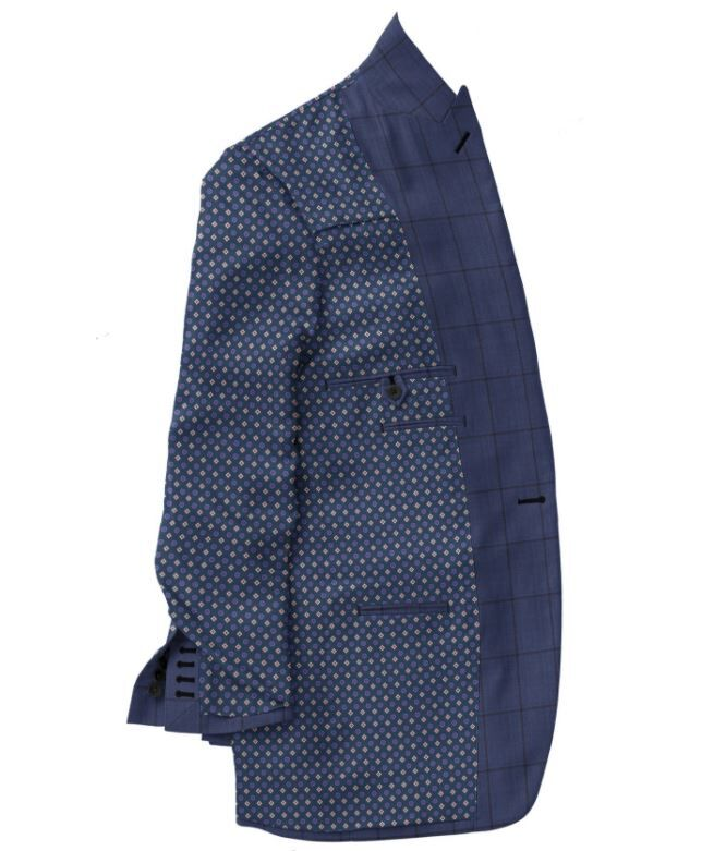 Blue Navy Windowpane