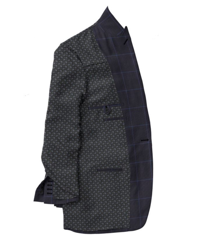 Navy Blue Windowpane