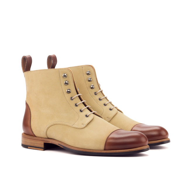 Lace Up Captoe Boot 002