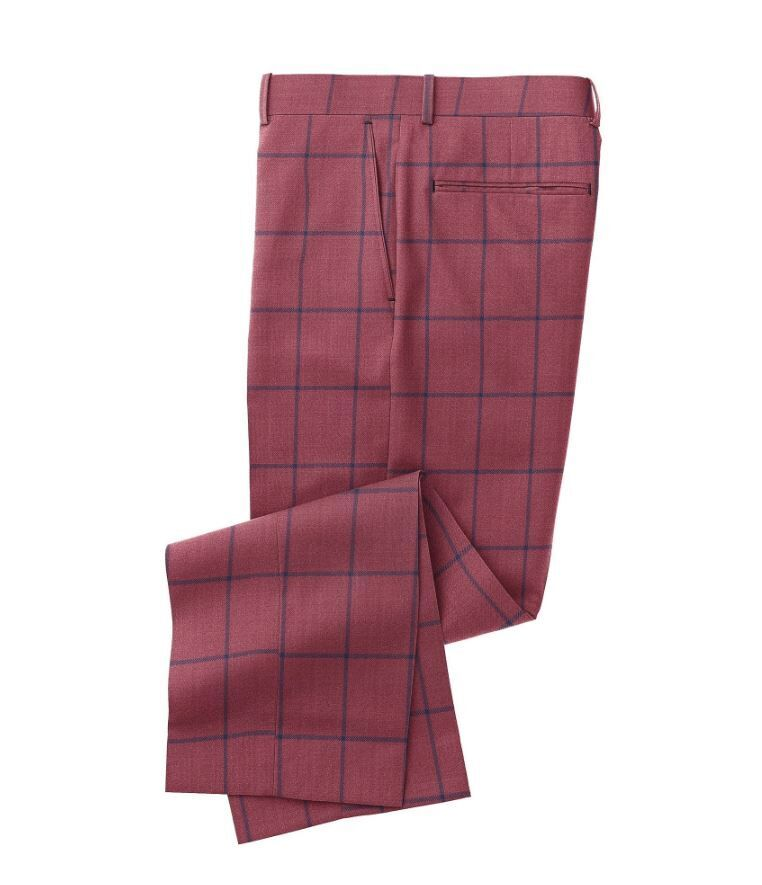 Maroon Navy Windowpane