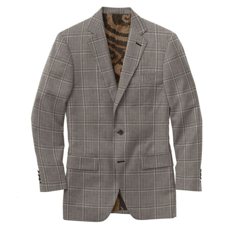 Gray Charcoal Windowpane