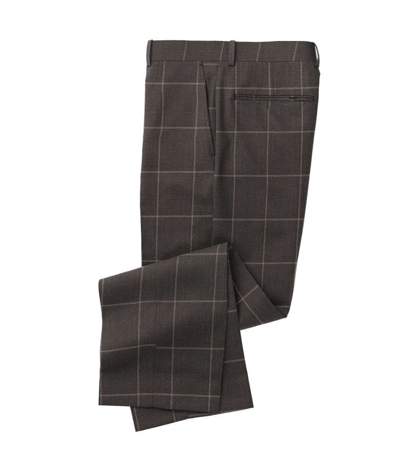 Charcoal Grey Windowpane