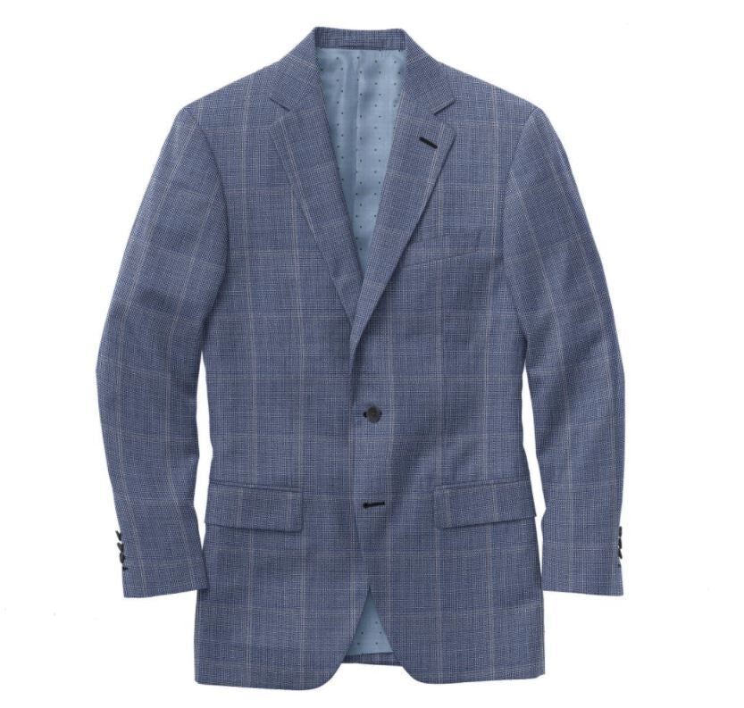 Light Blue Grey Windowpane