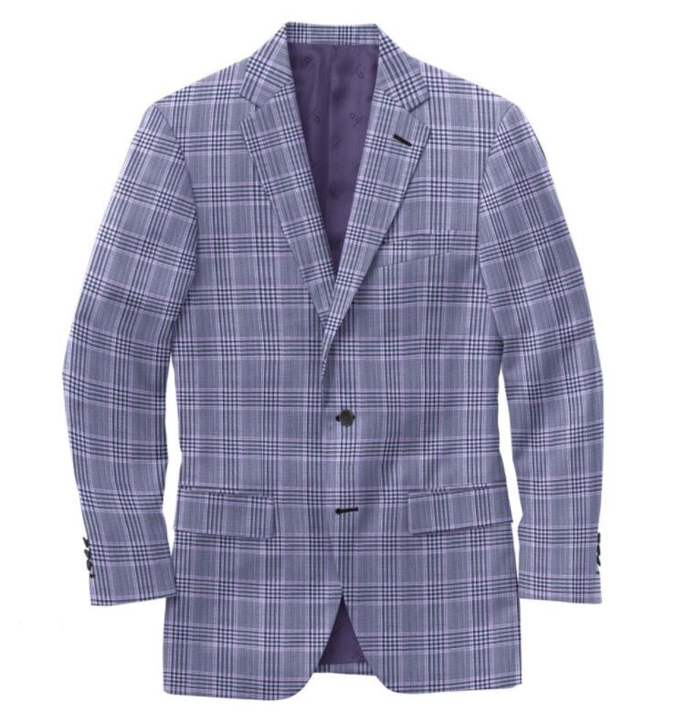 Blue Violet Plaid