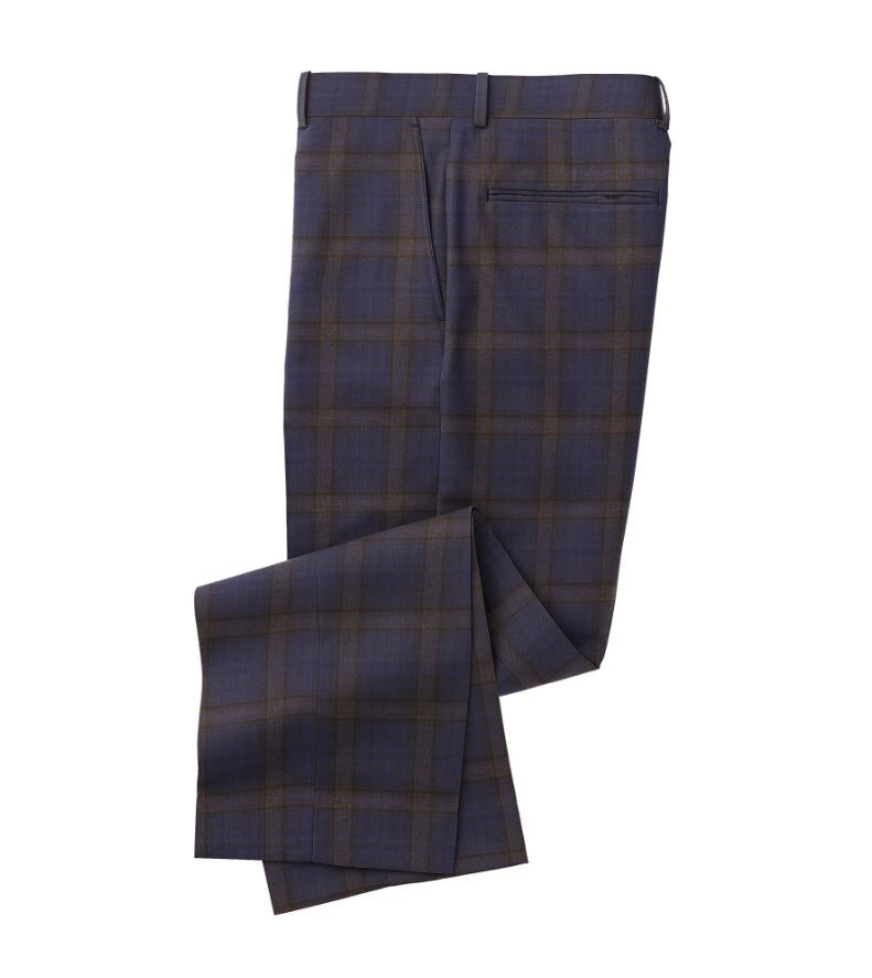 Royal Blue Brown Plaid