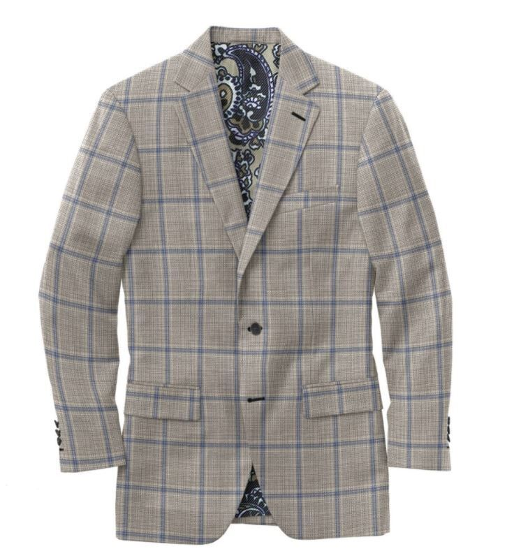 Grey Blue Double Windowpane