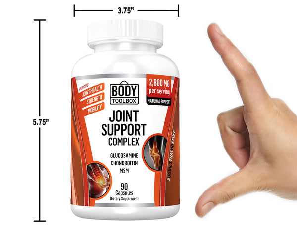 joint supplement bottle sizing
