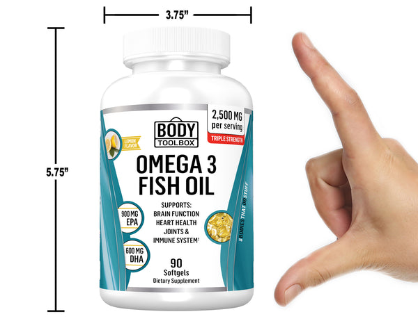 omega 3 supplement bottle sizing