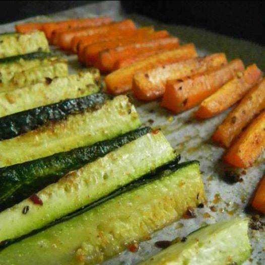 Easy Zucchini and Carrot Fries