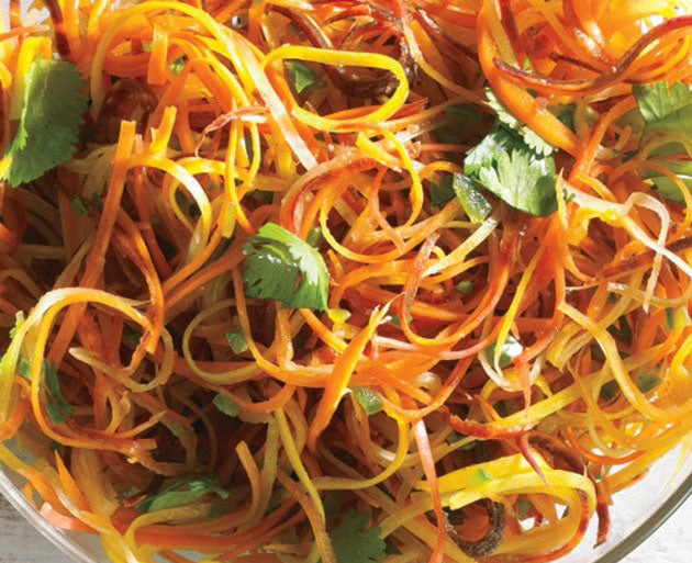 Spicy Carrot and Cilantro Slaw