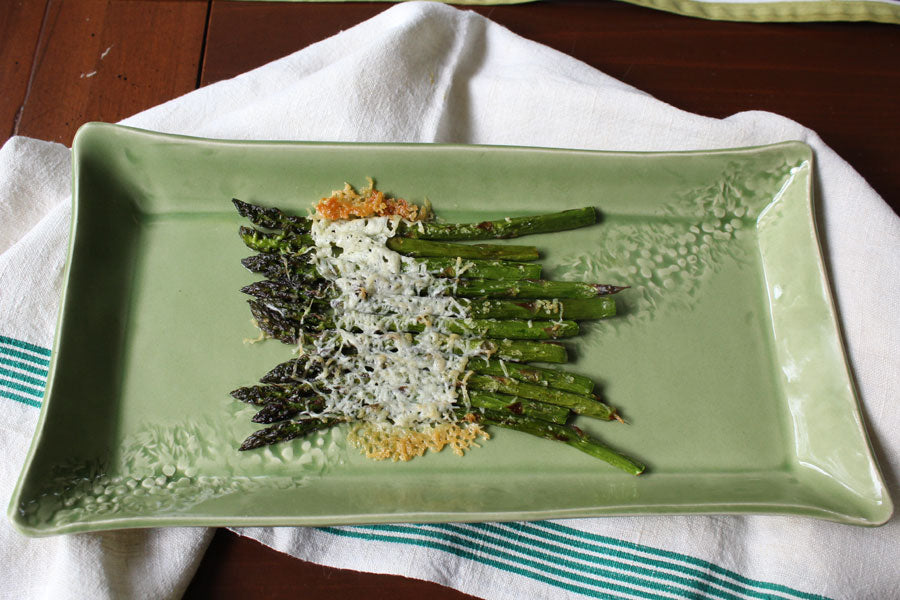 Garlic Baked Asparagus with Parmesan
