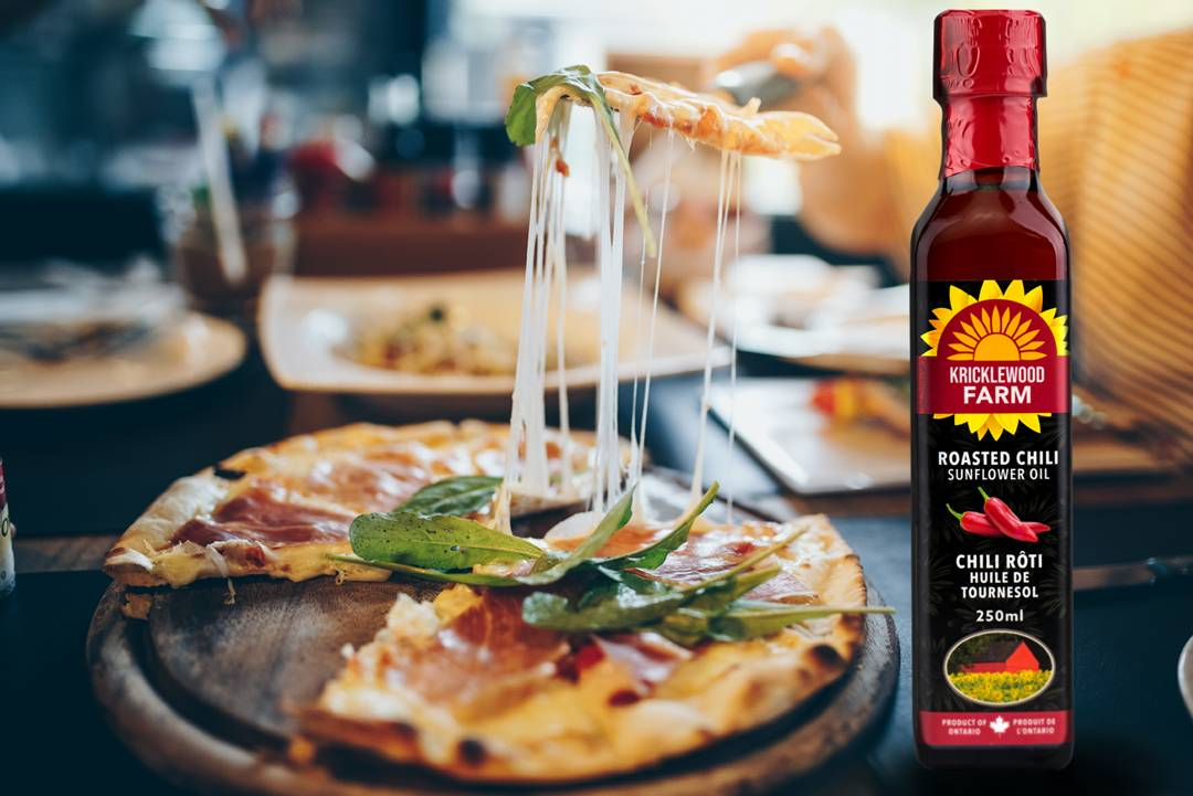 Kricklewood Farm Chili Sunflower Oil is a Delicious Pizza Oil