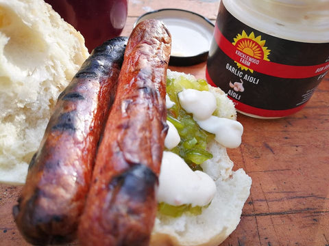 Kricklewood Farm Aioli as Hot Dog Topper!  Lori Moreland