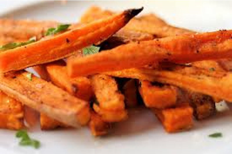 Spicy Oven Roasted Sweet Potato Fries