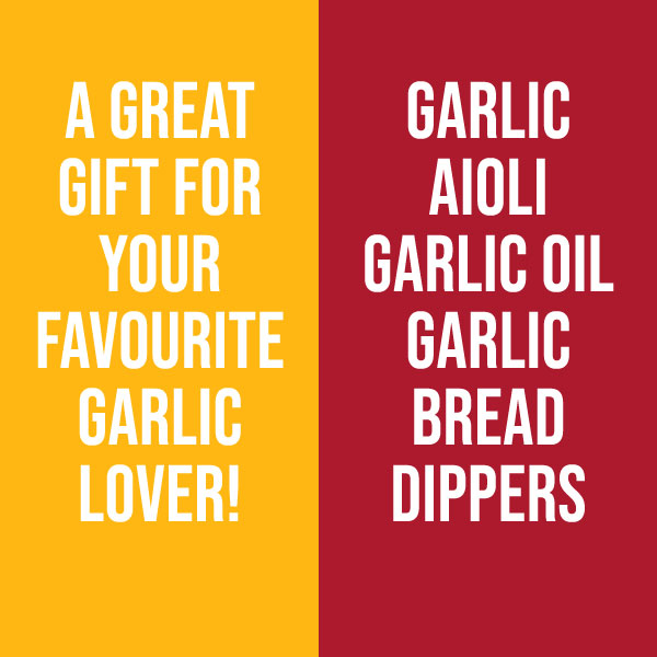 A Great Gift for Garlic Lovers!  Kricklewood Farm Garlic Aioli, Garlic Oil, Garlic Bread Dippersils