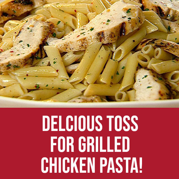 Delicious Toss for Grilled Chicken Pasta!  Kricklewood Farm Garlic & Lemon Bread Dipper