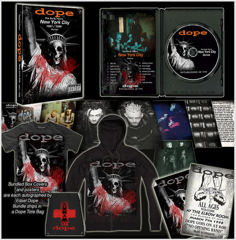 Dope Limited Edition-The Early Years-Hoodie - Shirt-CD / Photo booklet-Poster Bundle-Autographed by Edsel Dope