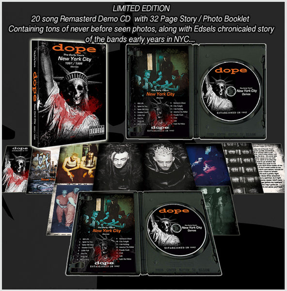 Dope Limited Edition-The Early Years-Shirt-CD / Photo booklet-Poster Bundle-Autographed by Edsel Dope