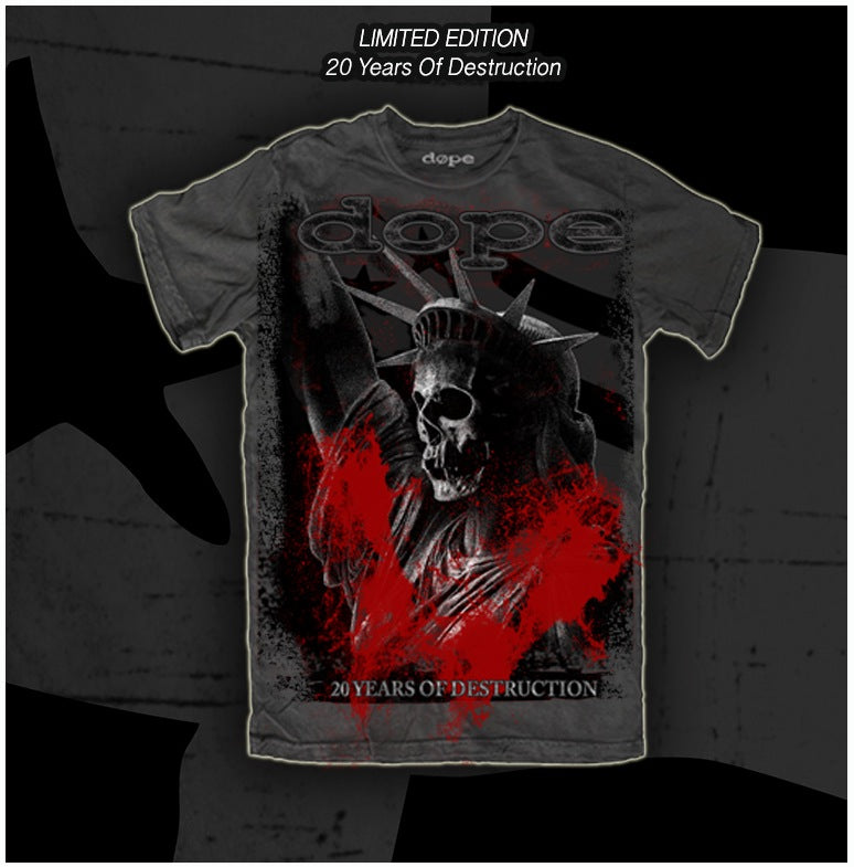 Dope - 20 Years of Destruction - T-Shirt - Apparel