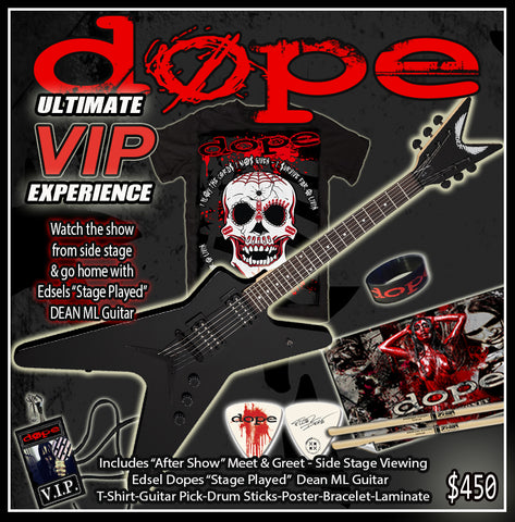 ULTIMATE VIP M&G BUNDLE-INCLUDES EDSEL DOPES STAGE PLAYED DEAN ML GUITAR