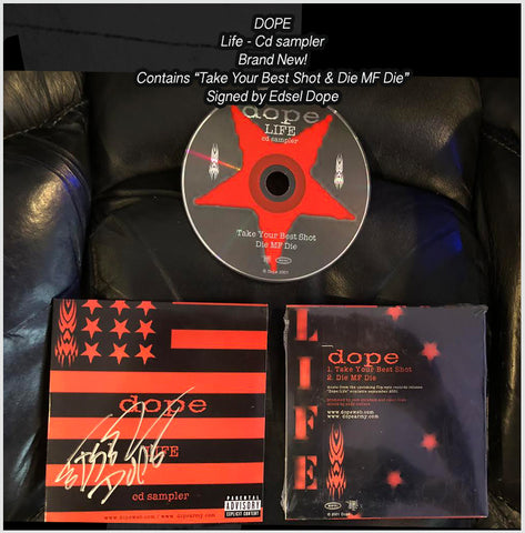 SUPER RARE DOPE - Life - Sampler from 2001 - Brand New - Signed by Edsel Dope