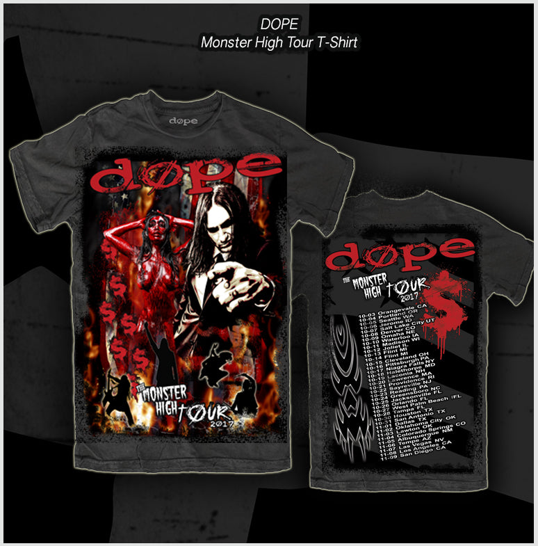 Dope - Monster High Tour Shirt -T-Shirt - Apparel