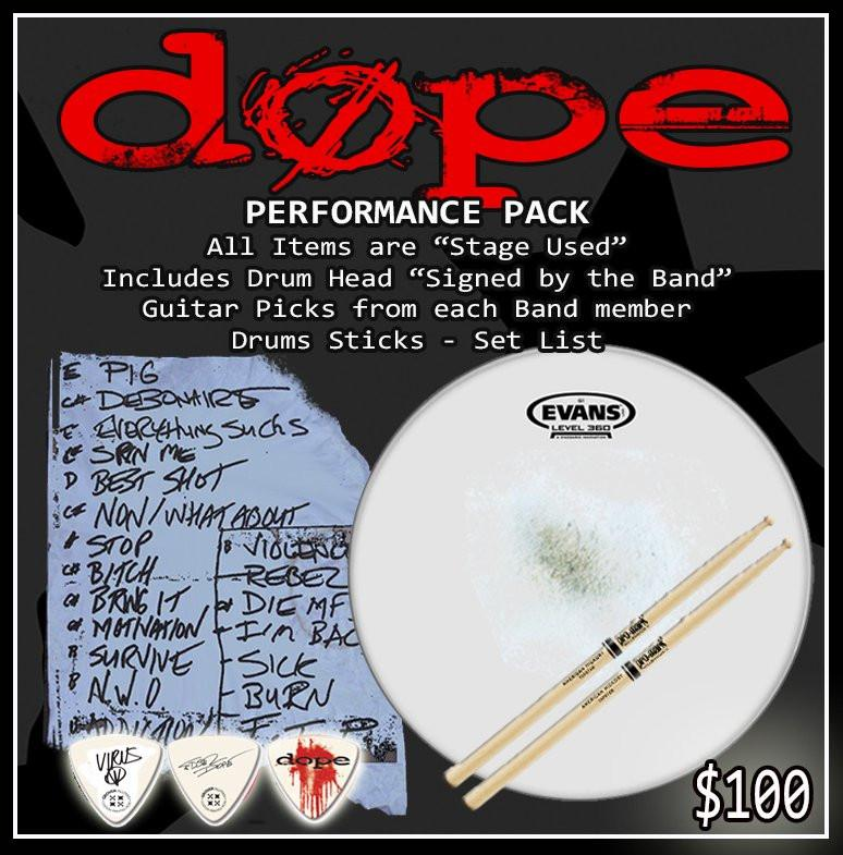 DOPE Concert Performance Pack Summer 2019 - 1 per city