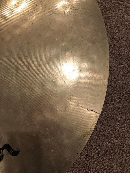 "18"" Used / Cracked Zildjian Cymbal - Used in the recording of Blood Money -Signed by Edsel Dope"