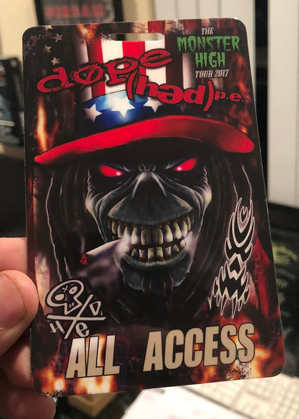 Left Over ALL ACCESS PASS from DOPE / Hed PE Monster High Tour