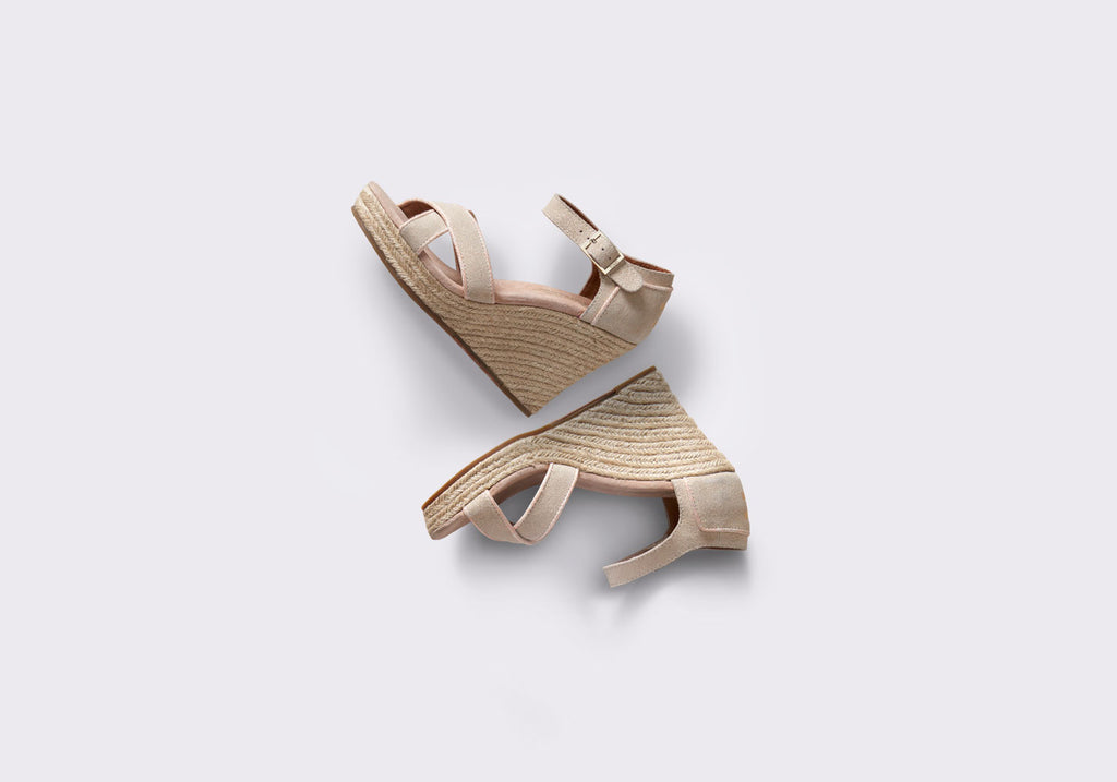 METALLIC SUEDE WOMEN'S STRAPPY WEDGES - SustainTheFuture.us - The Natural and Organic Way of Life
