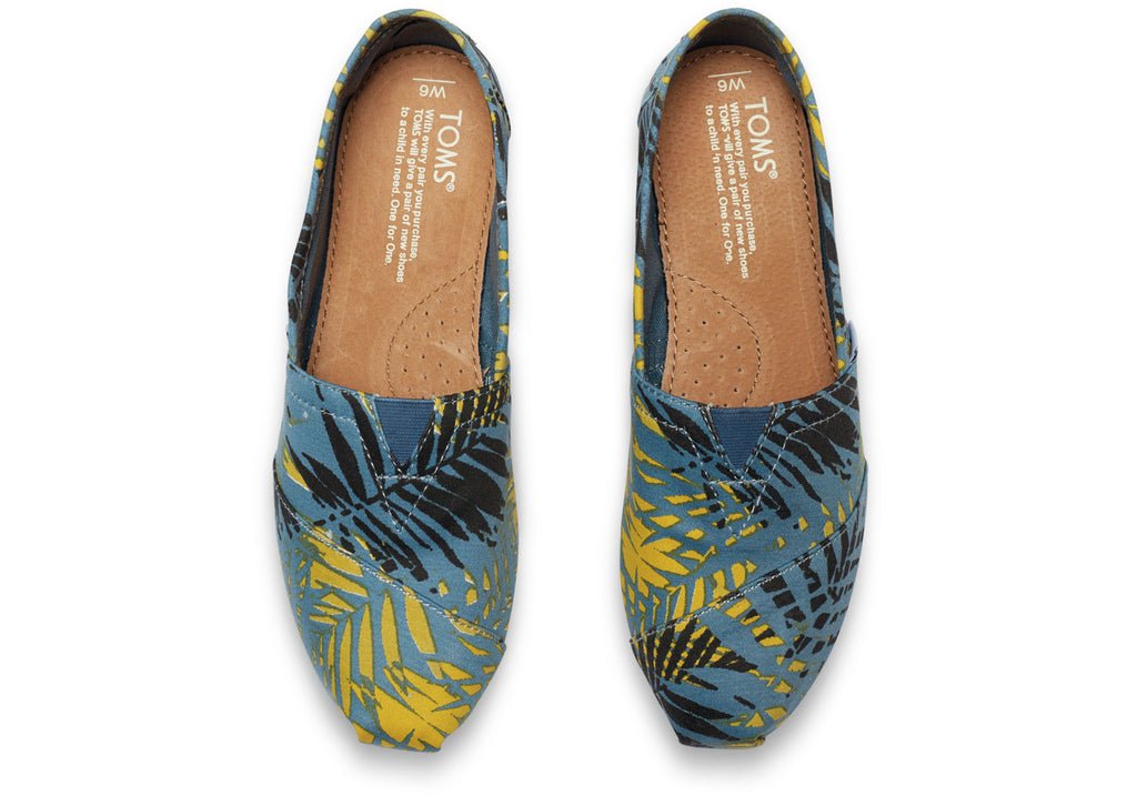AEGEAN BLUE CANVAS PALMS WOMEN'S CLASSICS - SustainTheFuture.us - The Natural and Organic Way of Life