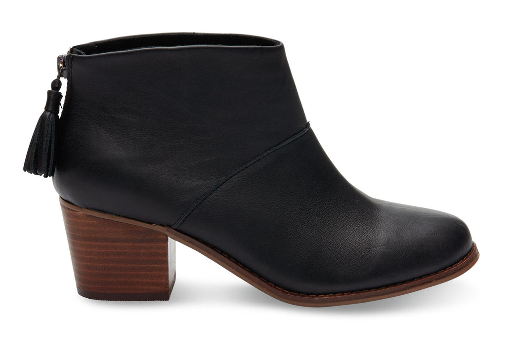 WARM TAN FULL GRAIN LEATHER WOMEN'S LEILA BOOTIES