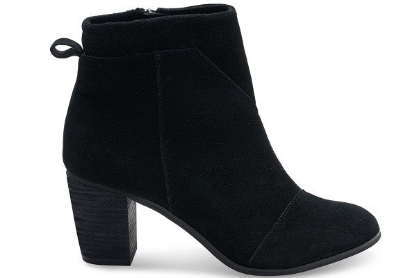 BLACK SUEDE WOMEN'S LUNATA BOOTIES - SustainTheFuture.us - The Natural and Organic Way of Life