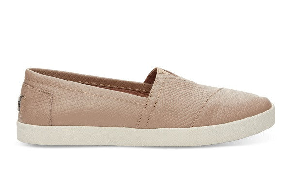 STUCCO LEATHER EMBOSS WOMEN'S AVALON SLIP-ONS