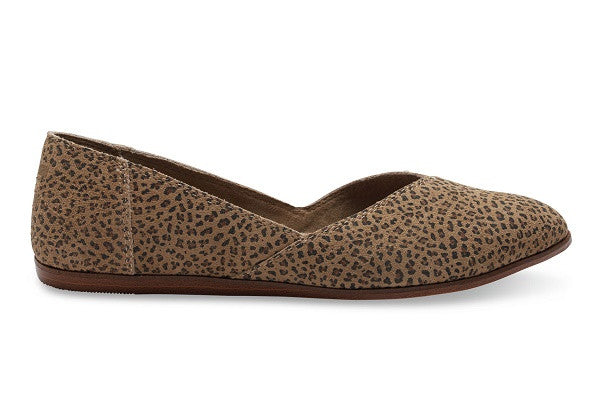 CHEETAH SUEDE PRINTED WOMEN'S JUTTI FLATS - SustainTheFuture.us - The Natural and Organic Way of Life