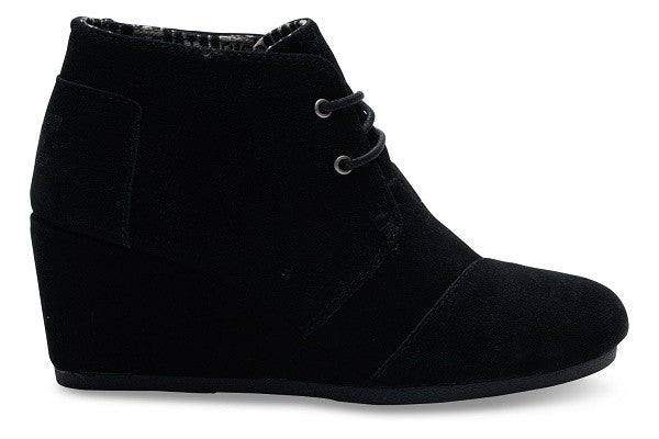 BLACK SUEDE WOMEN'S DESERT WEDGES - SustainTheFuture.us - The Natural and Organic Way of Life