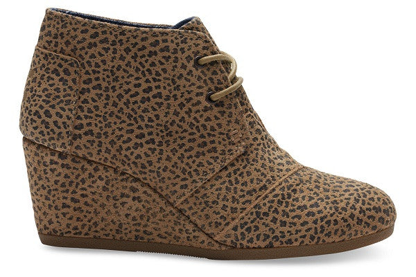 CHEETAH SUEDE WOMEN'S DESERT WEDGES - SustainTheFuture.us - The Natural and Organic Way of Life
