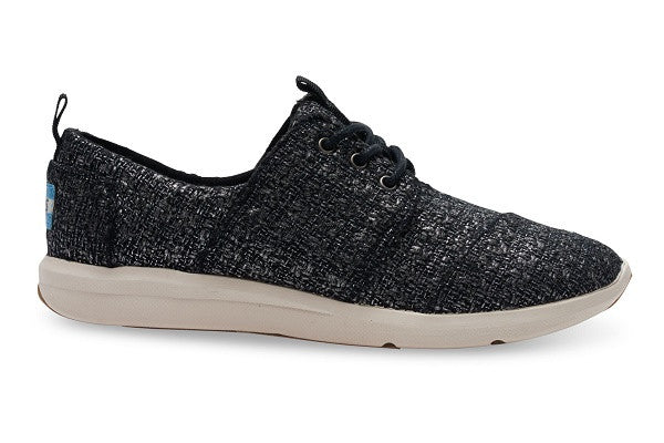 BLACK GLITTER WOOL WOMEN'S DEL REY SNEAKERS - SustainTheFuture.us - The Natural and Organic Way of Life
