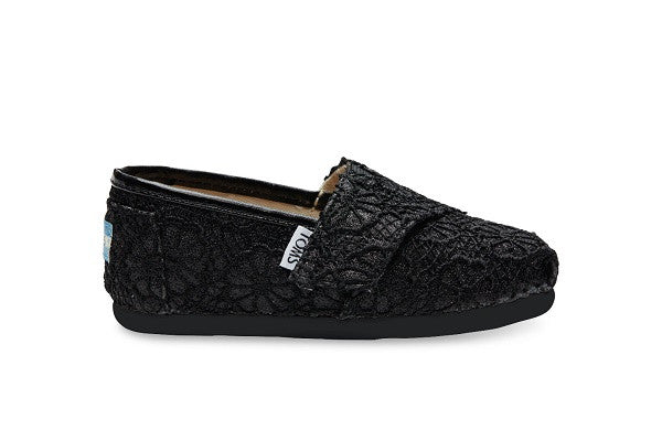 BLACK CROCHET GLITTER TINY TOMS CLASSICS - SustainTheFuture.us - The Natural and Organic Way of Life